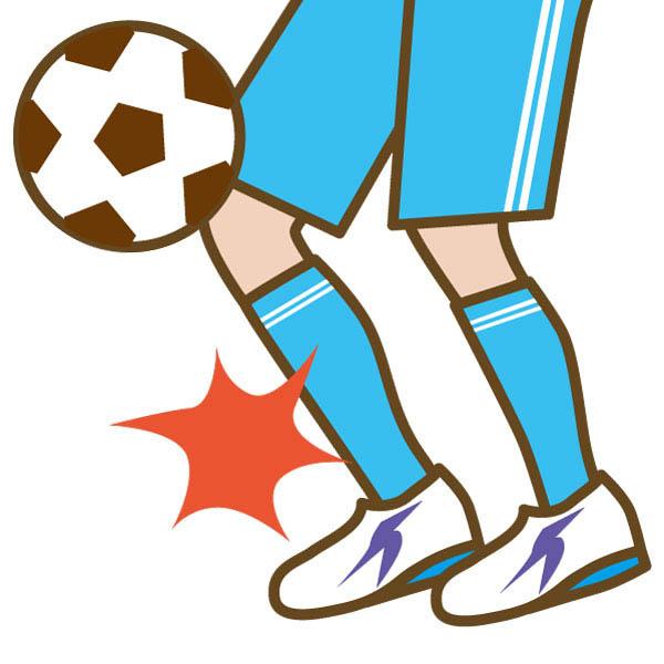 サッカー少年の足の痛み